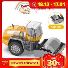 Đồ chơi trẻ em mô hình xe lu hợp kim sắt và nhựa an toàn, các khớp chuyển động, chi tiết sắc sảo- KAVY