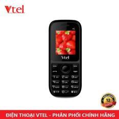 Điện thoại di động Vtel A1 – 2 SIM (Màu đen) – Bảo Hành 12 Tháng