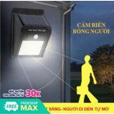 [Lấy mã giảm thêm 30%]Đèn Led Cảm Biến Hồng Ngoại Năng Lượng Mặt Trời 30 led