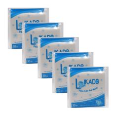 SET 5 gói tấm lót phân xu sơ sinh 3 lớp Likado (gói 30 tờ)