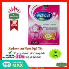 Alphavit ăn ngon ngủ tốt cho bé – 1 hộp có 20 ống – 1 ống chứa 10ml dạng nước – HSD 2023 – Binzinson