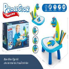 Bộ bàn đèn chiếu hình tập vẽ thông minh cho trẻ em với 24 hình tập vẽ khác nhau đi kèm 12 bút màu giúp bé thỏa sức sáng tạo và phối màu ngộ nghĩnh dễ thương