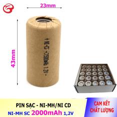 Pin SC 1500mAh 1,2V, Pin Ni-Mh dành cho thiết bị (máy khoan, robot hút bụi) – Bán buôn (Pin ngắn 43mm)