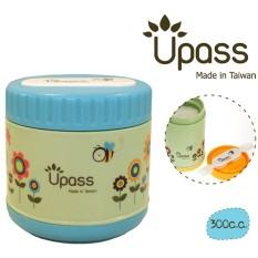 Hộp giữ ấm thức ăn UPASS 300CC không BPA có thìa và dĩa gấp gọn UP9561Y