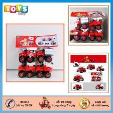 Xe đồ chơi bộ 4 chiếc cứu hỏa