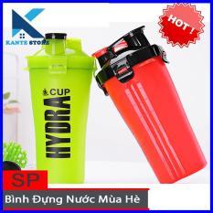 Bình lắc thể thao 2 ngăn chứa Hydra – Bình nước cho người tập Gym KanteStore