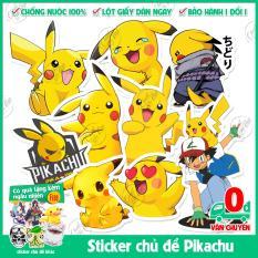 75 mẫu sticker không trùng chủ đề Chuột Điện Picachu Pokemon Bửu bối thần kỳ biểu cảm cực dễ thương dán xe đạp, laptop, điện thoại, tủ lạnh, vali,…
