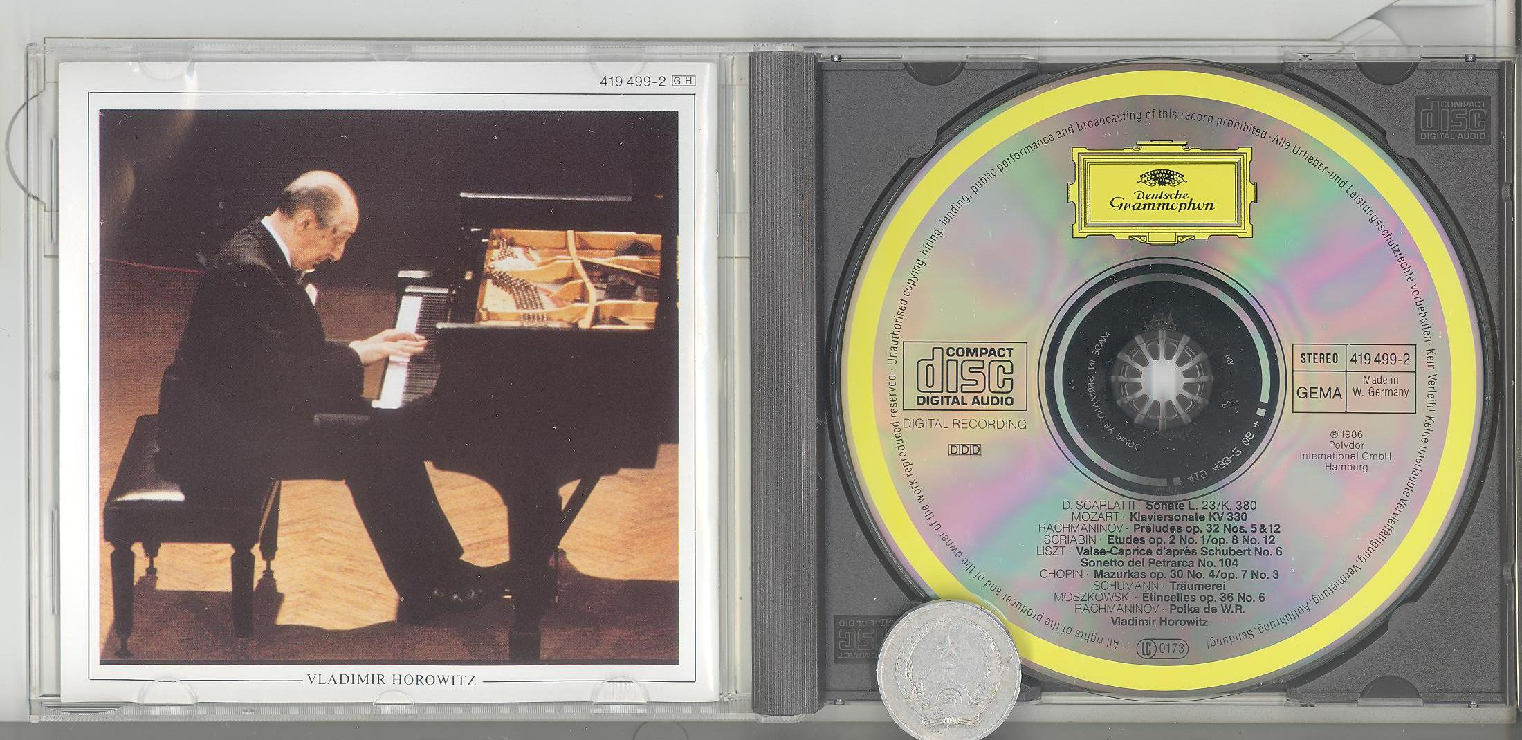stereomate - Đĩa nhạc - CD gốc: Horowitz - In Moscow
