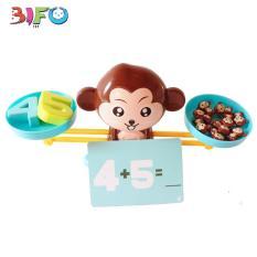 Bộ đồ chơi khỉ cân thăng bằng giúp bé say mê học Toán