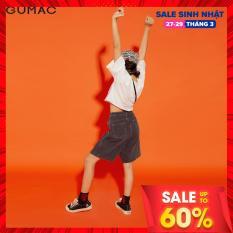 (SALE 50%)Quần JEAN nữ GUMAC thiết kế dáng lỡ xếp ly sườn QJA12145 TEEN