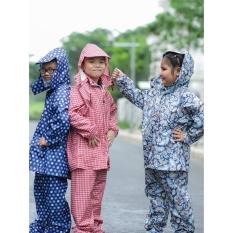 [XẢ KHO] Bộ quần áo mưa trẻ em vải dù họa tiết ngộ nghĩnh 3-10 tuổi (ngẫu nhiên – nhắn shop chọn màu theo giới tính)