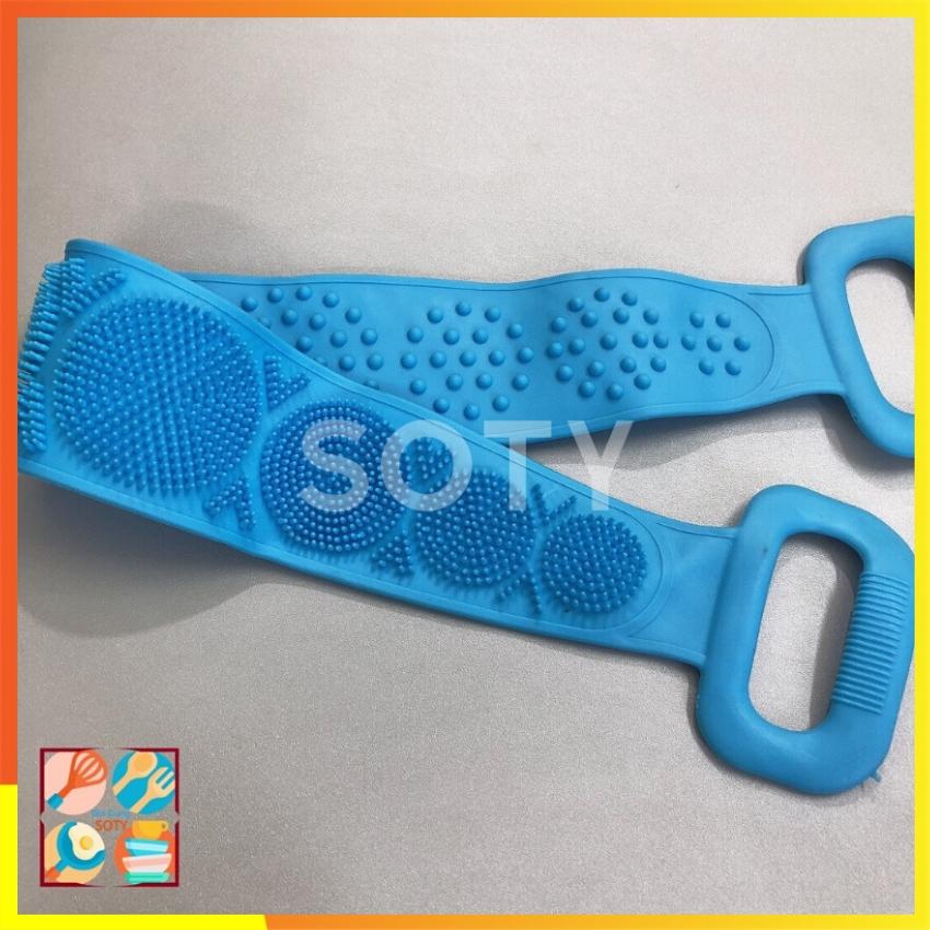 Dây Chà Lưng Silicon ngăn viêm da , mụn lưng SOTY DL-015 Massage Silicone Khăn Tắm Tẩy Tế Bào Chết...