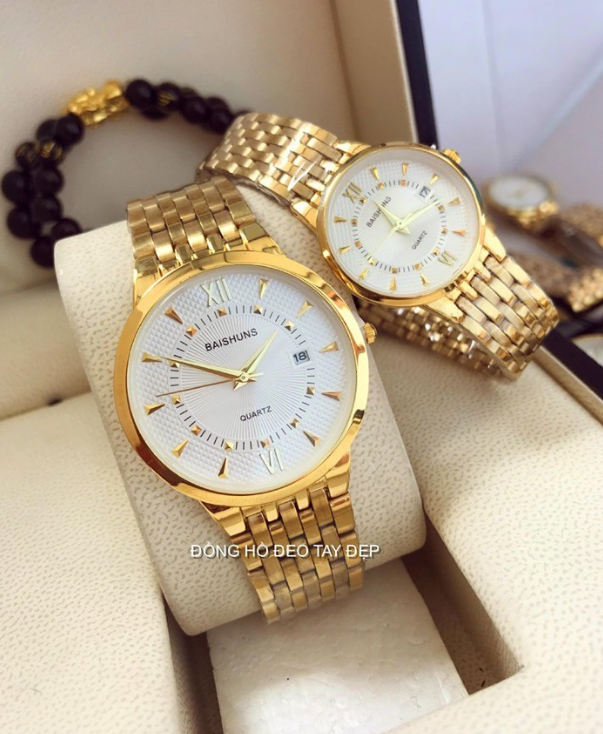 Đồng hồ nam nữ nhãn hiệu Baishuns có lịch, đa dạng sản phẩm, cam kết hàng như hình, máy đồng hồ là máy sản xuất theo tiêu chuẩn của Nhật Bản
