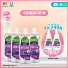 Combo 4 Nước Rửa Chén Gốc Thực Vật Seventh Generation Lavender & Mint Oải Hương Bạc Hà (750ml)