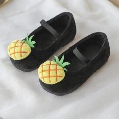 Giày búp bê hình trái thơm cho bé gái, chất bông êm mềm