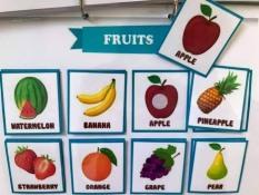 HỌC LIỆU CHO BÉ: Matching hoa quả tiếng anh