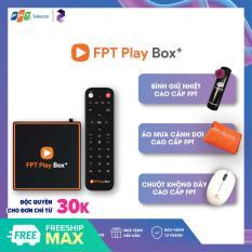 [CHÍNH HÃNG MUA 1 ĐƯỢC 3] FPT PLAY BOX 2020 + Android 10 + 4K Model S550 Có Điều Khiển Bằng Giọng Nói + Tặng bình giữ nhiệt và tạp dề