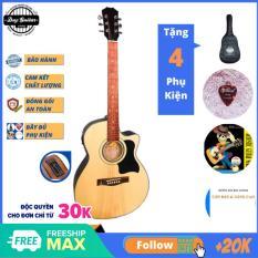Đàn guitar Acoustic âm sắc rõ ràng, vang tốt, trọng lượng nhẹ và dễ sử dụng cho người mới bắt đầu có EQ model DT70X sử dụng hội họp party gia đình