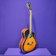 Đàn guitar acoustic có ty SVA102 + EQ 7545 kết nối loa có ty chống cong, tặng 7 phụ kiện : Bao da, dây jack 3m, capo, lục giác, tài liệu học, dây 1, dây 2 – Bảo hành 12 tháng