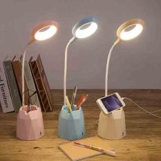 Đèn học LED để bàn có ống bút