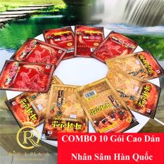 COMBO 10 Gói Cao Dán Hồng Sâm Hàn Quốc – 20 miếng/ 1 gói – hỗ trợ đau lưng, đau vai gáy, nhức mỏi cơ thể