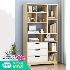 Tủ để sách bằng gỗ cao cấp, kệ để sách DH-BGK2018