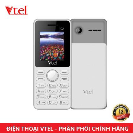 [HCM]Điện thoại di động Vtel C2 - 2 SIM (Màu Trắng và Xám) - Bảo Hành 12 Tháng