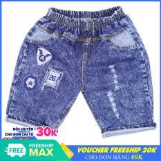 Quần Short Jean bé trai thêu Logo – Chất vải mềm mại [ ẢNH THẬT 100% DO SHOP CHỤP ]