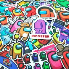 Bộ hình dán game AMONG US siêu hot sticker pvc chống nước cao cấp, không bay màu – Owl Sticker