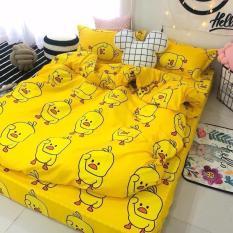 Bộ ga gối giường Cotton Poly Tmark (Vịt vàng)