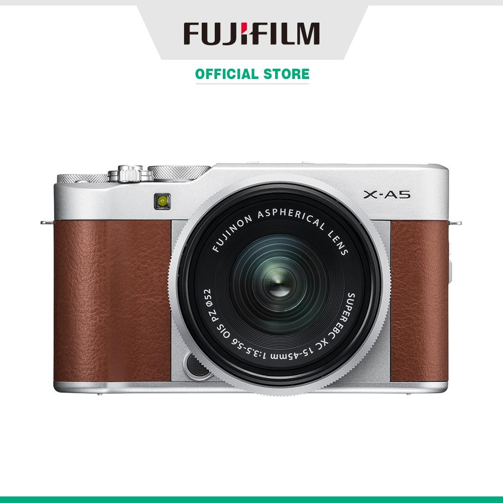 [Trả góp 0%]Máy ảnh kỹ thuật số Fujifilm X-A5/XC15-45 (Nâu/Bạc/Bạc đậm/Hồng)