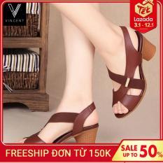 Dép sandal nữ cao cấp :đế cao 5cm : gồm 3 màu : vàng bò, đen, nâu. Đế silicon chắc chắn