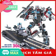[Lấy mã giảm thêm 30%]Đồ chơi lắp ráp trẻ em bằng nhựa ABS an toàn -Tàu chiến MECH và SIEU ROBOT BẢO VỆ TRÁI ĐẤT- LEGO STYLE