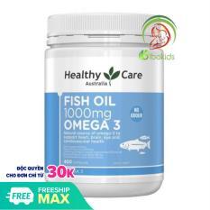 Dầu Cá Tự Nhiên Fish Oil Healthy Care Omega 3 1000mg, 400 viên