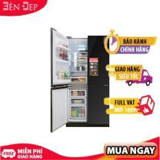 [TRẢ GÓP 0%] Tủ lạnh 4 cửa Sharp Inverter 626 lít SJ-FX688VG-BK