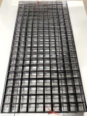 Lưới sắt treo đồ màu đen rộng 50cm x dài 100cm sơn tĩnh điện ô vuông