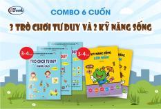 Sách thiếu nhi – Combo 5 cuốn TRÒ CHƠI TƯ DUY + KỸ NĂNG SỐNG cho bé 3-4 tuổi (Trọn bộ)