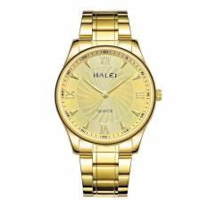 Đồng hồ nam halei 007 dây vàng mặt vàng