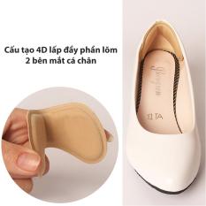 Miếng lót giày 4D bảo vệ gót sau và chống tuột gót giày (loại vuông) – buysales – BSPK54