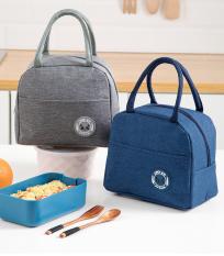 Túi giữ nhiệt đựng hộp cơm trưa Lunch Bag vải Oxford có lớp lót bạc cách nhiệt, giữ ấm size lớn
