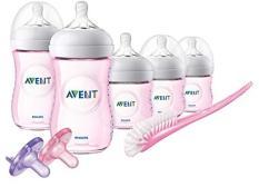 Bộ Gift Set 8 món bình sữa Avent Natural(màu hồng)