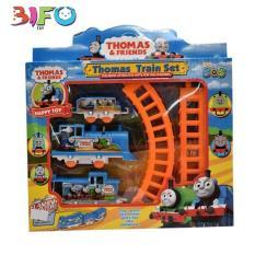 Đồ chơi xếp hình đường ray tàu hỏa chạy bằng pin cho bé