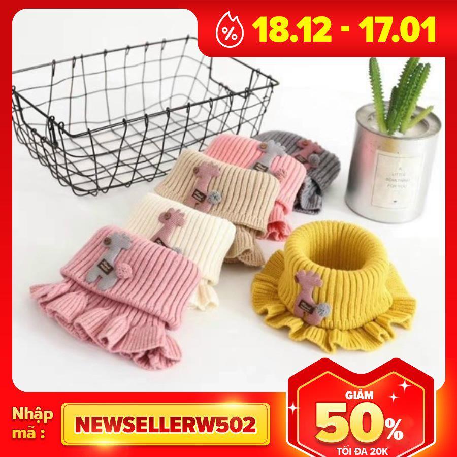 Khăn len cho bé Khăn len nhún bèo khăn ống quàng cổ cho bé- khăn nhún bèo từ 3- 10...