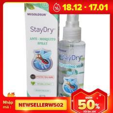 Chai xịt chống muỗi và côn trùng staydry 70ml (chai dạng xịt) an toàn cho trẻ em chất lượng đảm bảo an toàn đến sức khỏe người sử dụng cam kết hàng đúng mô tả