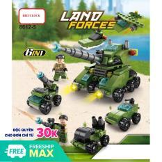 Bộ Đồ Chơi Lắp Ráp Xe Tăng Lego 138 Chi Tiết Bền Đẹp Xếp Được 6 mô hình trong 1 Hieuclock