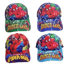 Nón kết người nhện Spider Man bé trai màu ngẫu nhiên có dán mở rộng