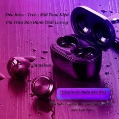 (CAO CẤP) Tai Nghe Bluetooth Không Dây – Siêu Bass Wireless A6 – Chống Nước IP5X – Pin Khủng 100h – Tự Động Kết Nối