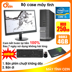 Bộ case máy tính DEL CPU Dual Core E5xxx / Core i5-4430 / Ram 4GB / HDD 250GB-500GB / SSD 120GB-240GB + Màn hình + [QUÀ TẶNG] – OZ