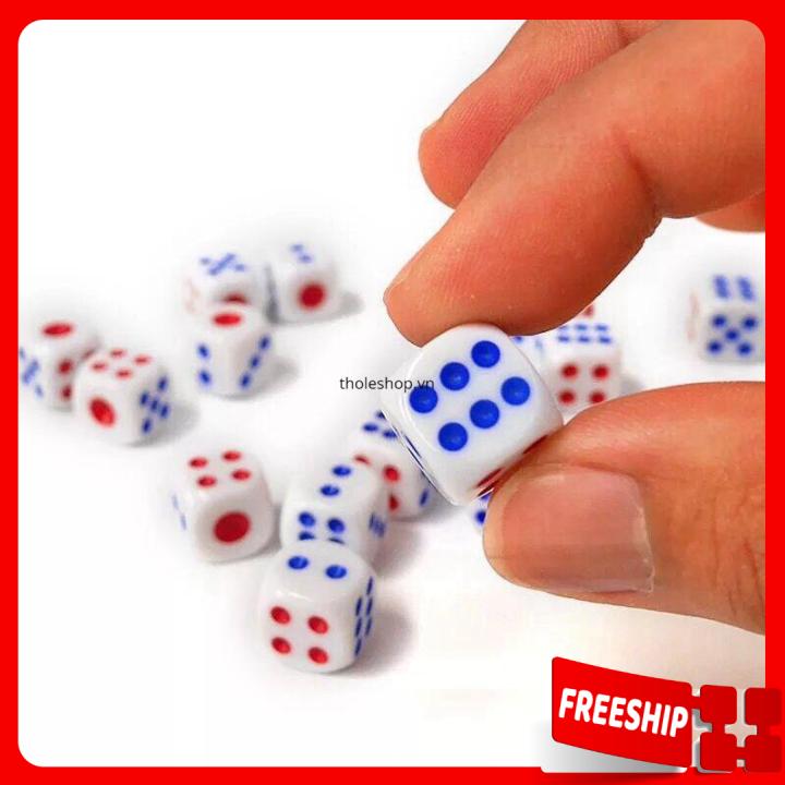 [XẢ KHO] Xúc xí ngầu – Combo 10 xúc xí ngầu, xúc xắc không độc hại giá cực rẻ – Đồ chơi trẻ em