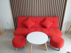 BSF- Bộ sofa bed màu đỏ đô